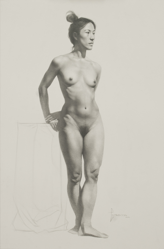 Realist Drawing by Toronto Academy of Realist Art School based on 19th Century  French Academies.