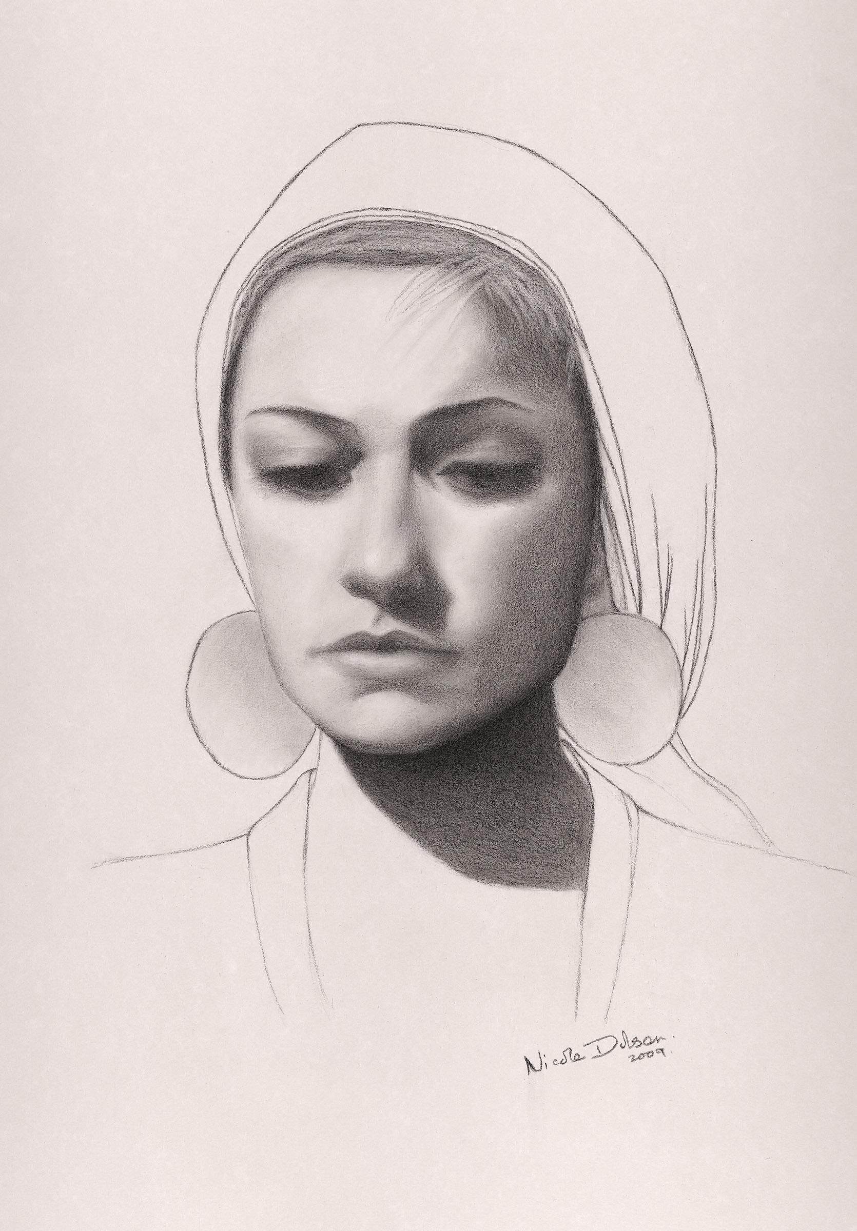 Nicole Dolson – Portrait of Jeanette – Graphite on Paper
