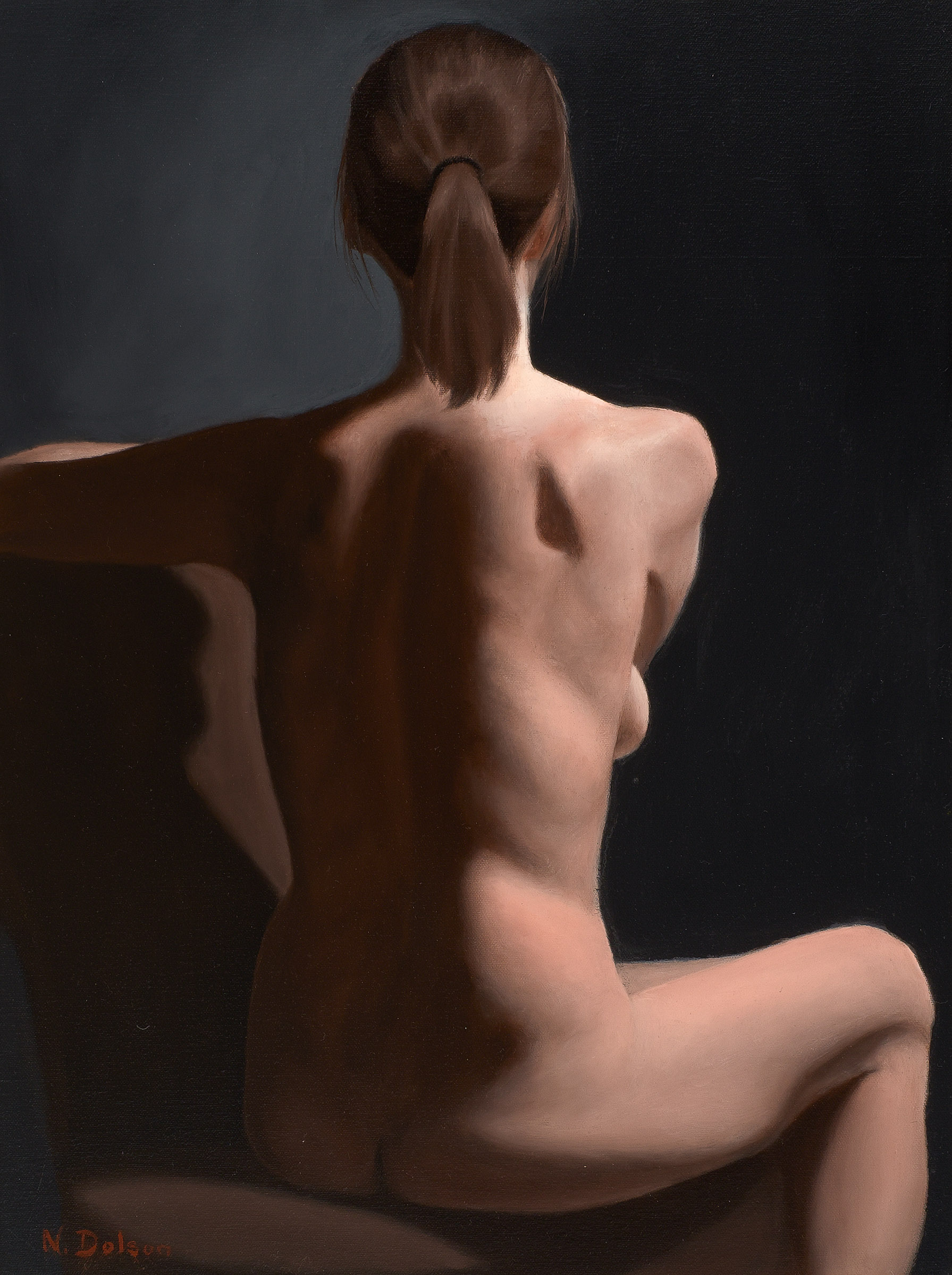 Realist painting by Toronto Academy of Realist Art. 3rd level based on 19th Century French Academies.