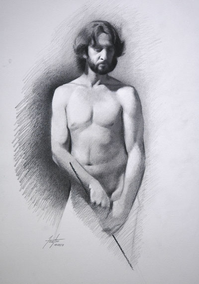 Classical Figure Drawing Done in Carbon - The Academy of Realist Art